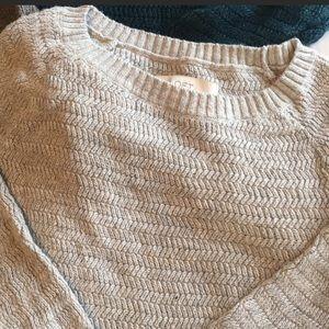 The Loft Light Gray Sweater!! Super cute!!